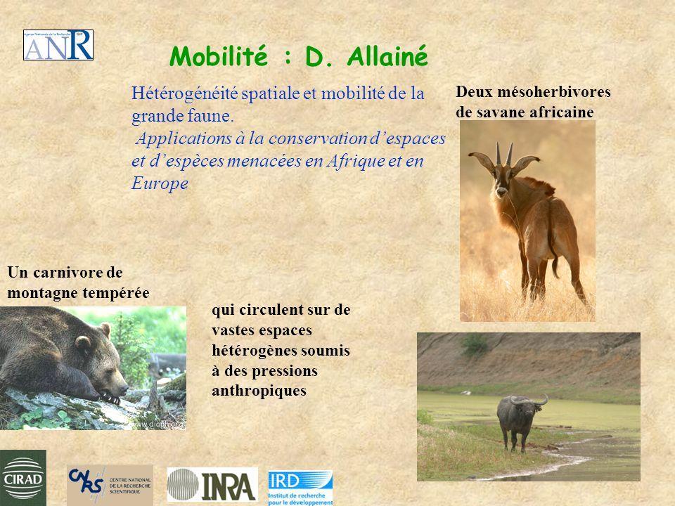 Mobilité : D. Allainé Hétérogénéité spatiale et mobilité de la grande faune.