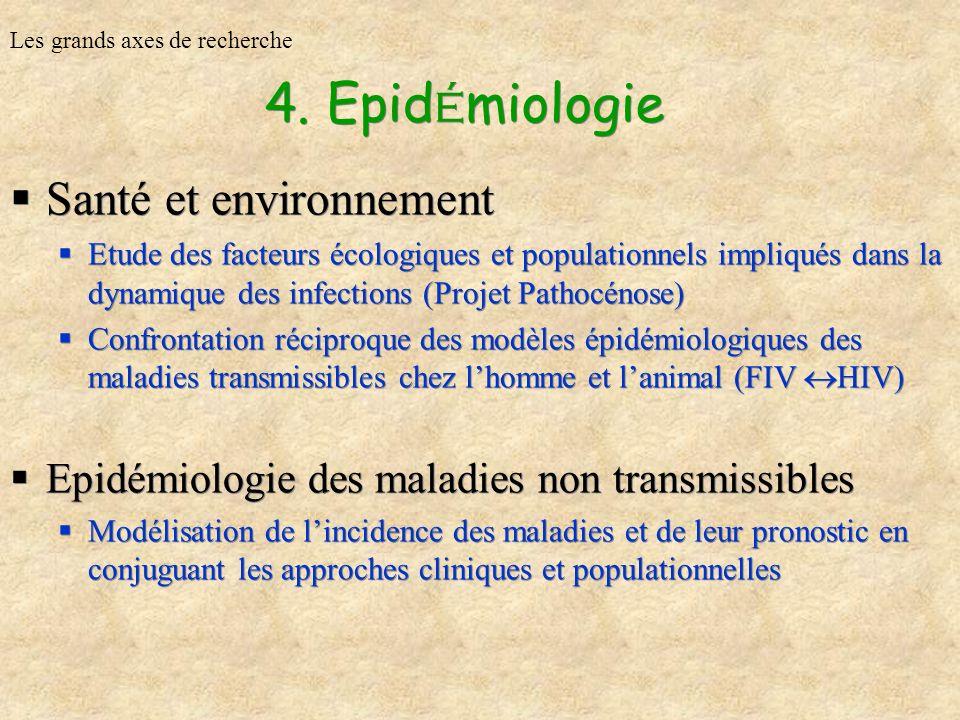 4. Epidémiologie Santé et environnement