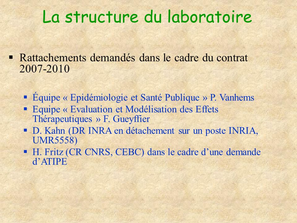 La structure du laboratoire
