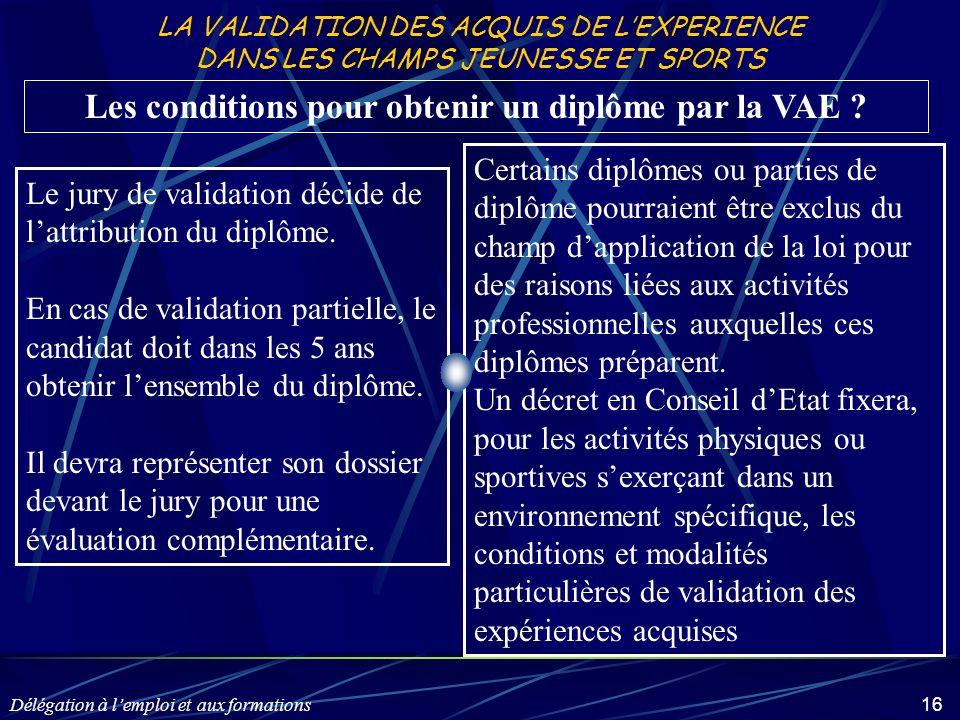 Les conditions pour obtenir un diplôme par la VAE