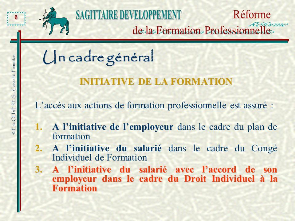 INITIATIVE DE LA FORMATION