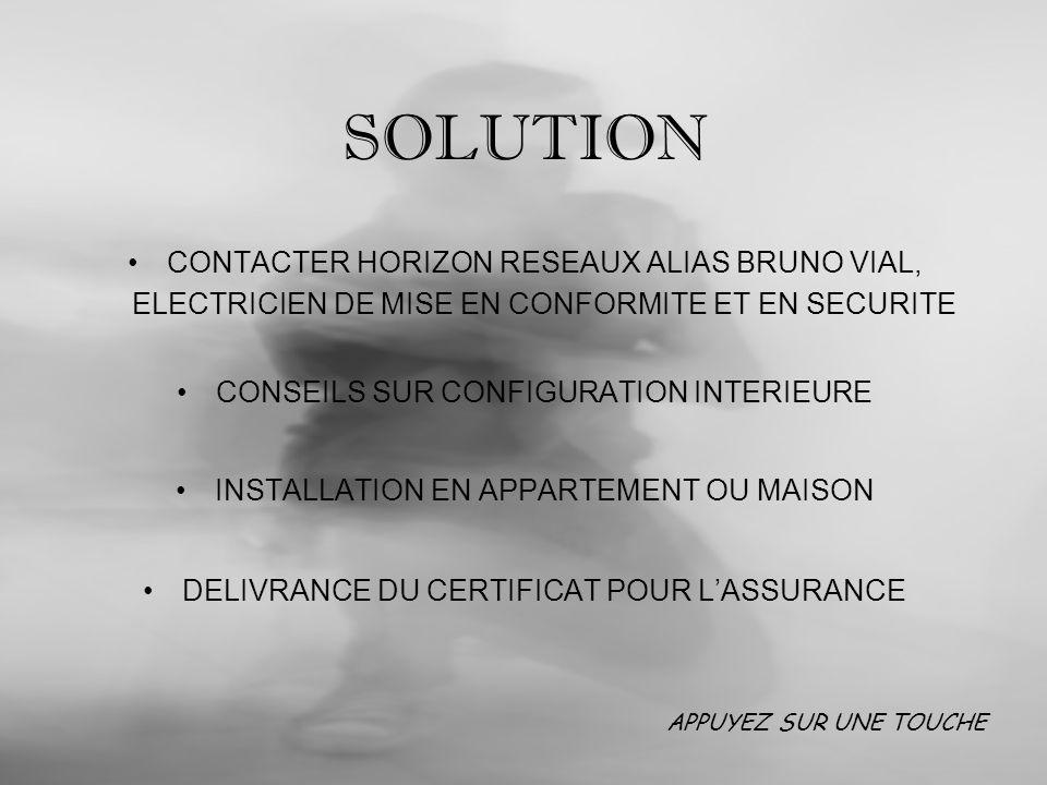 SOLUTION CONTACTER HORIZON RESEAUX ALIAS BRUNO VIAL, ELECTRICIEN DE MISE EN CONFORMITE ET EN SECURITE.