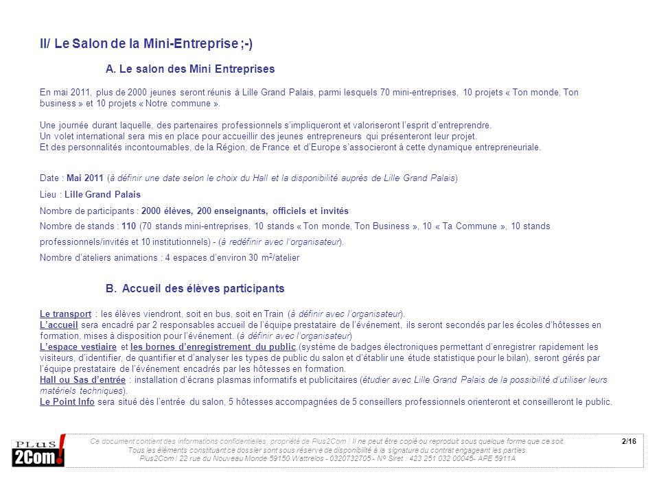 II/ Le Salon de la Mini-Entreprise ;-)