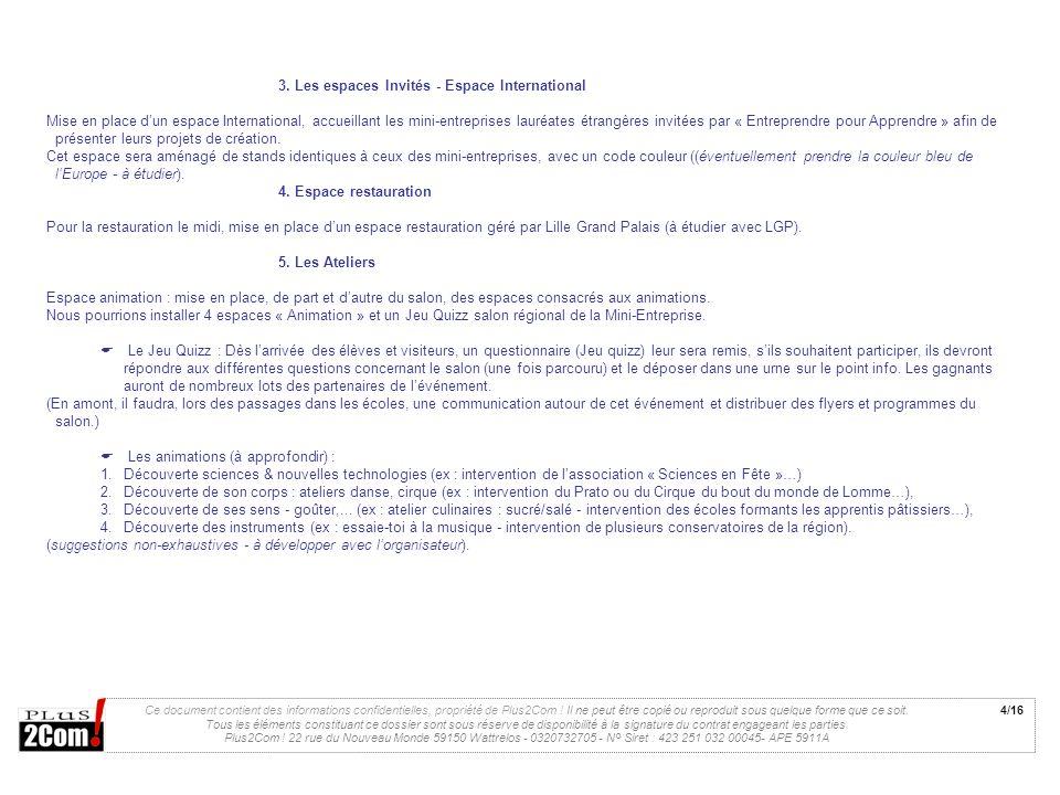 3. Les espaces Invités - Espace International