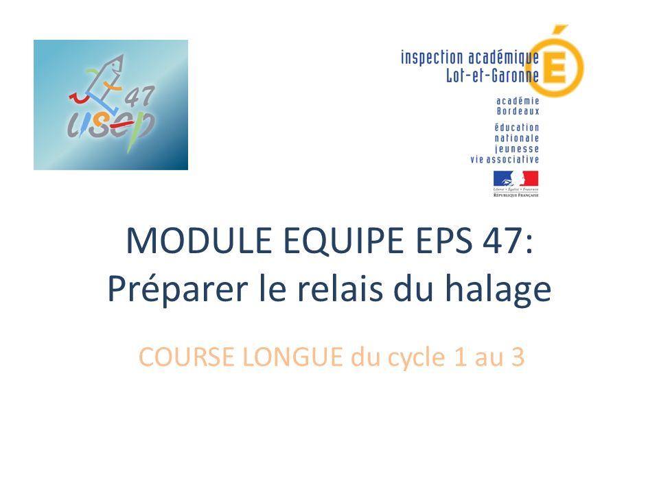 MODULE EQUIPE EPS 47: Préparer le relais du halage
