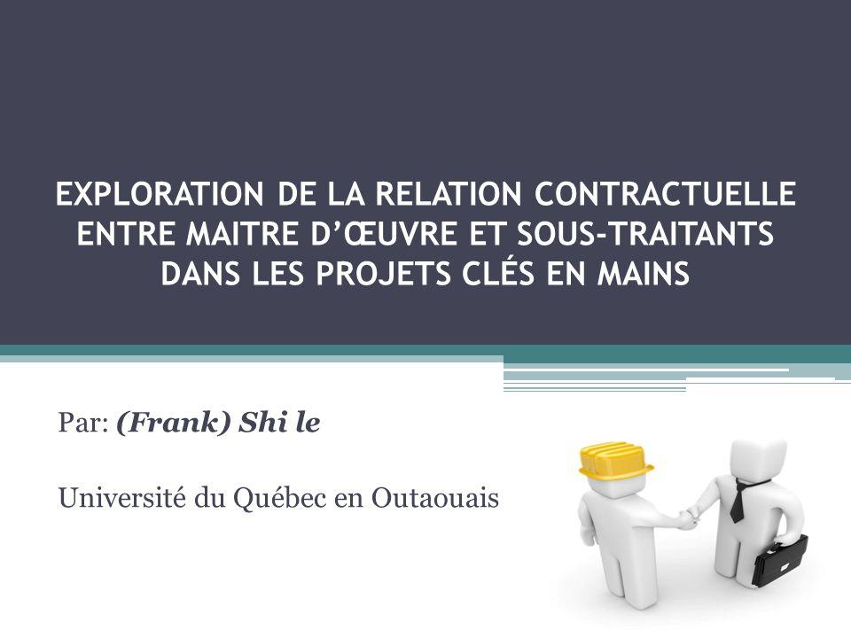 Par: (Frank) Shi le Université du Québec en Outaouais