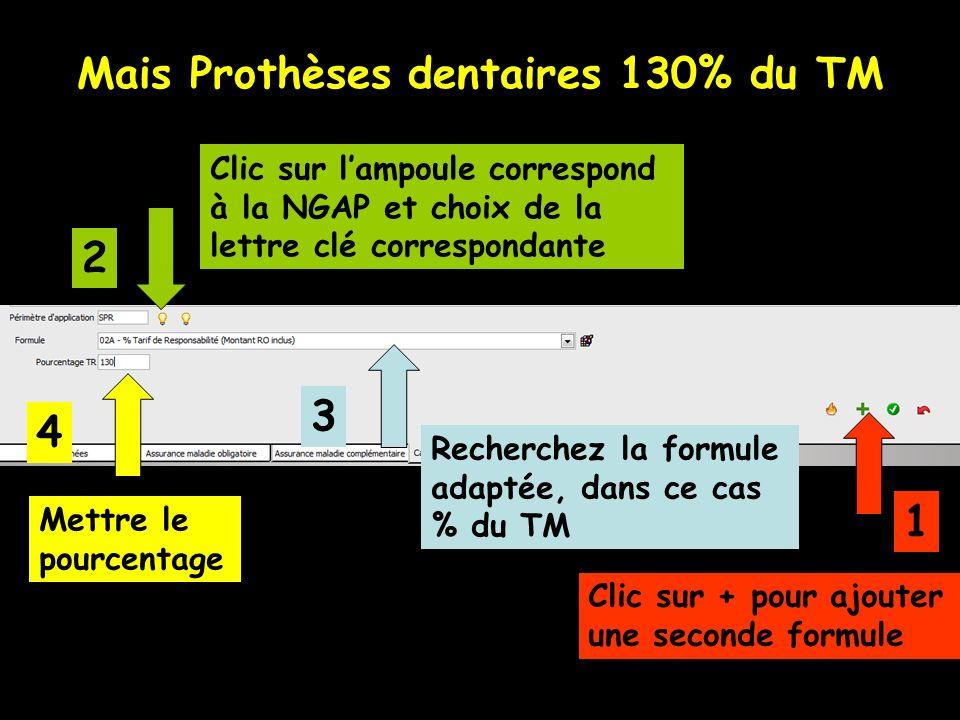 Mais Prothèses dentaires 130% du TM