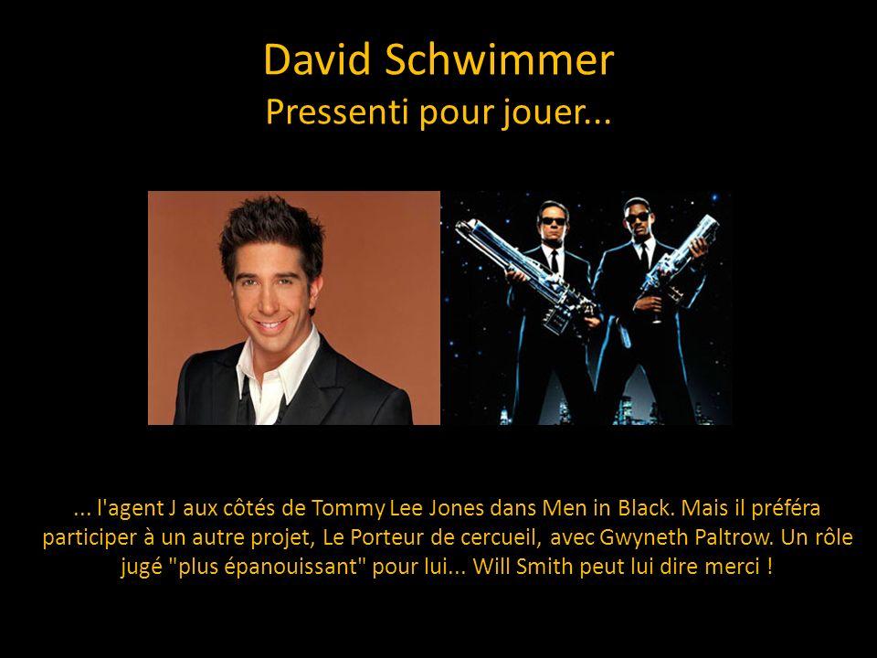 David Schwimmer Pressenti pour jouer...