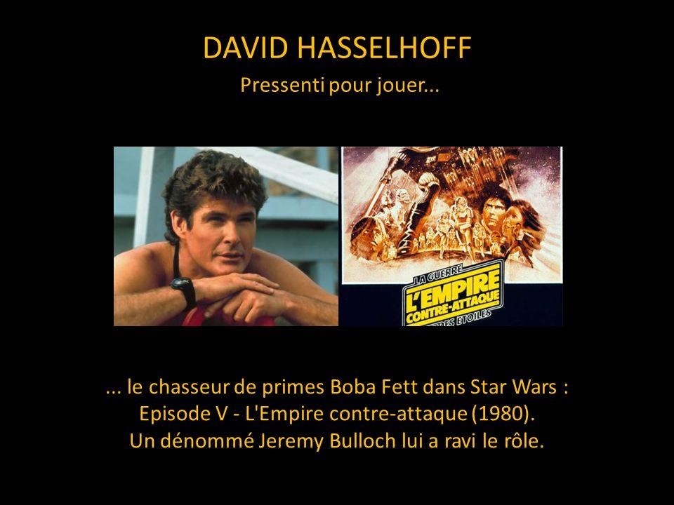 DAVID HASSELHOFF Pressenti pour jouer...