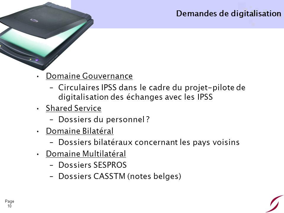 Demandes de digitalisation