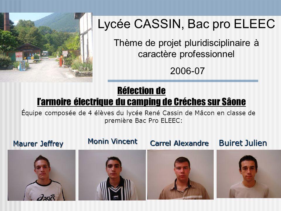 Réfection de l'armoire électrique du camping de Créches sur Sâone