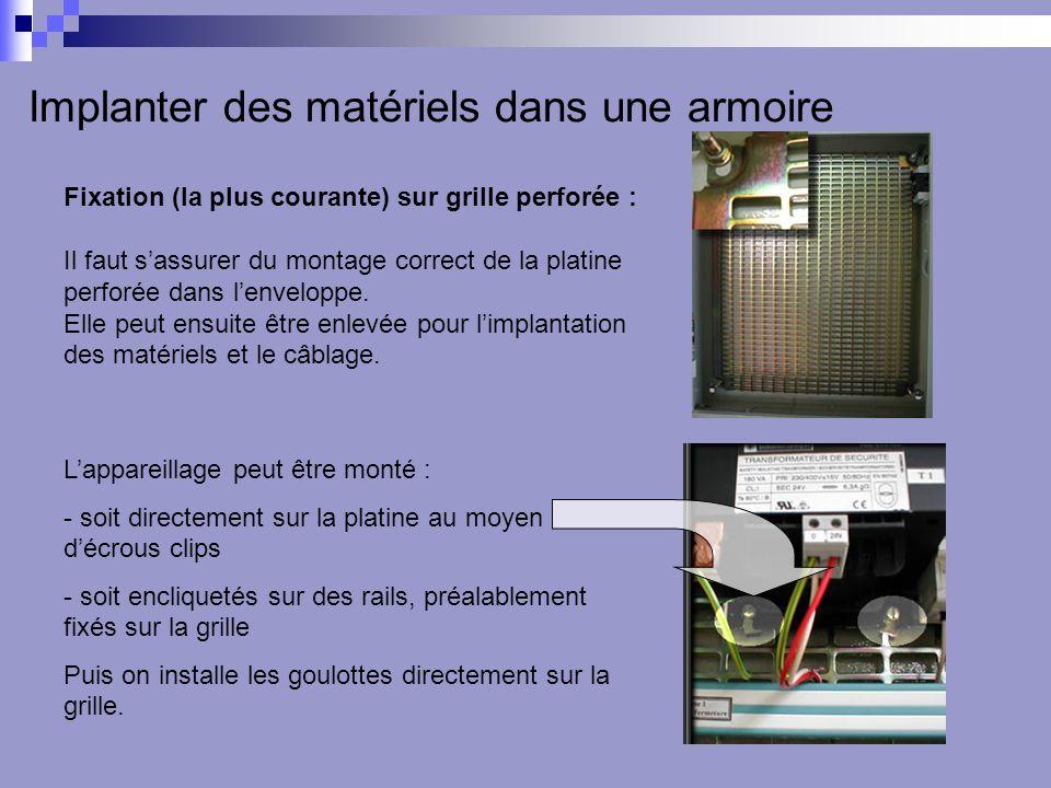 Implanter des matériels dans une armoire