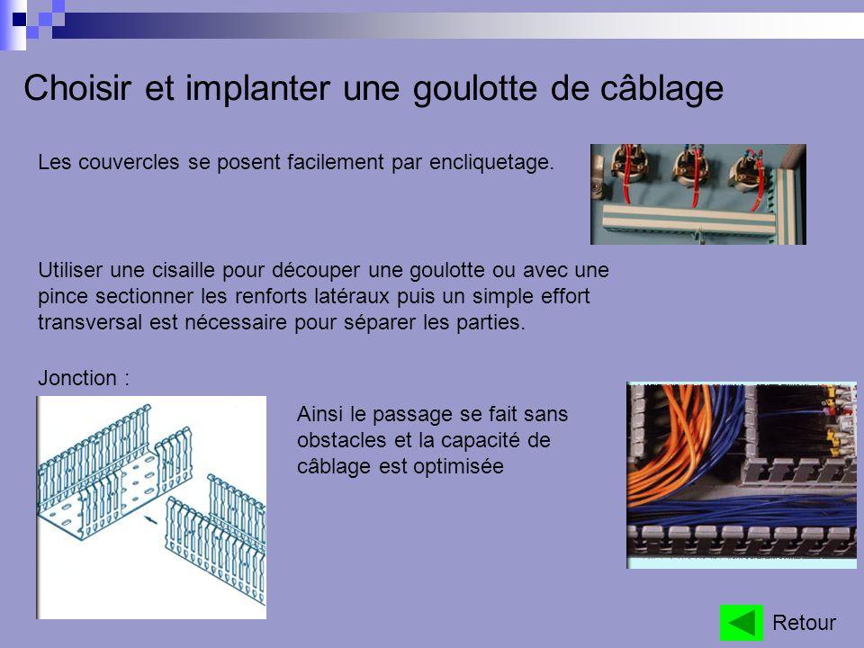 Choisir et implanter une goulotte de câblage