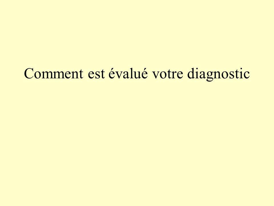 Comment est évalué votre diagnostic