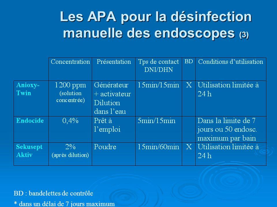 Les APA pour la désinfection manuelle des endoscopes (3)