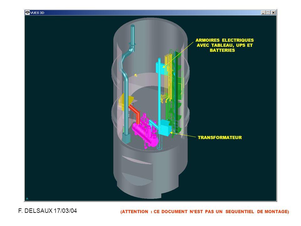 F. DELSAUX 17/03/04 ARMOIRES ELECTRIQUES AVEC TABLEAU, UPS ET