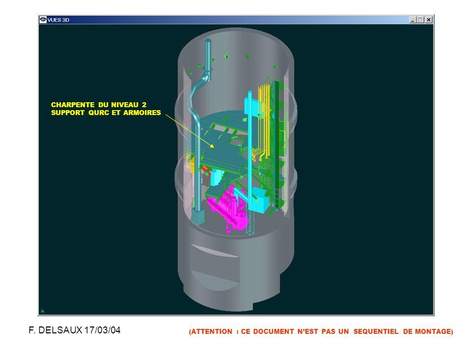 F. DELSAUX 17/03/04 CHARPENTE DU NIVEAU 2 SUPPORT QURC ET ARMOIRES