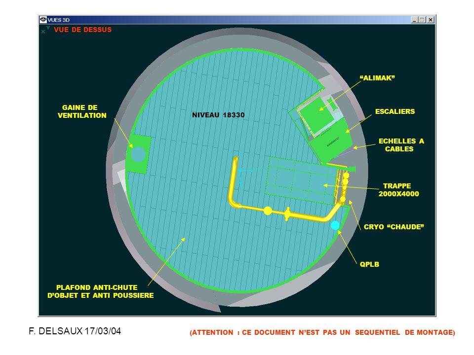F. DELSAUX 17/03/04 VUE DE DESSUS ALIMAK GAINE DE VENTILATION