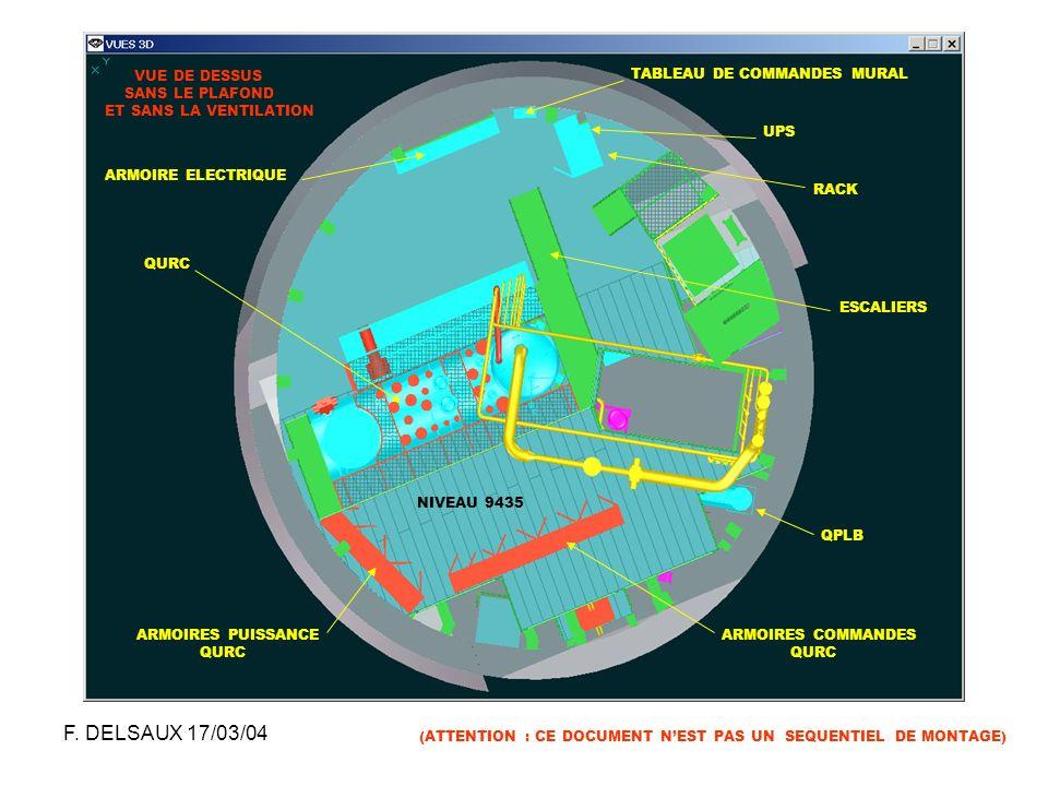 F. DELSAUX 17/03/04 INTEGRATION DU PM18 VUE DE DESSUS SANS LE PLAFOND
