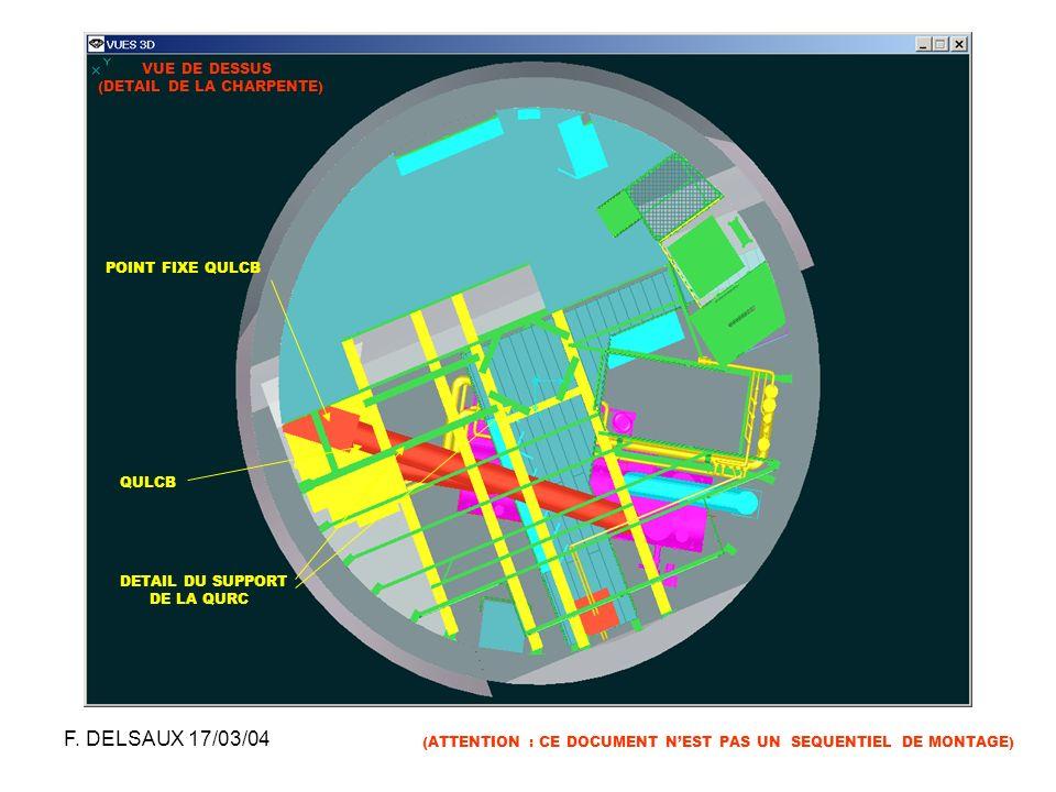 F. DELSAUX 17/03/04 VUE DE DESSUS (DETAIL DE LA CHARPENTE)