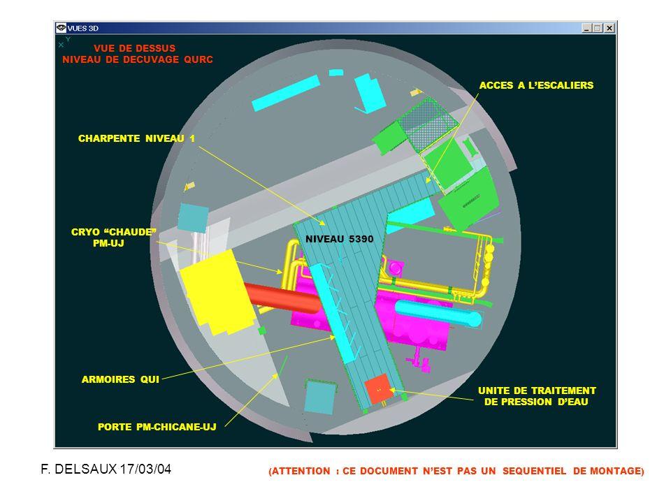 F. DELSAUX 17/03/04 VUE DE DESSUS NIVEAU DE DECUVAGE QURC
