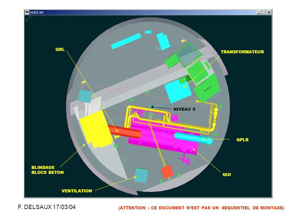 F. DELSAUX 17/03/04 QRL TRANSFORMATEUR NIVEAU 0 QPLB BLINDAGE