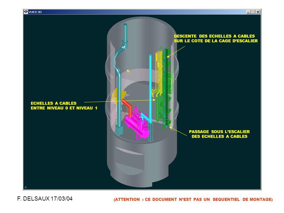 F. DELSAUX 17/03/04 DESCENTE DES ECHELLES A CABLES