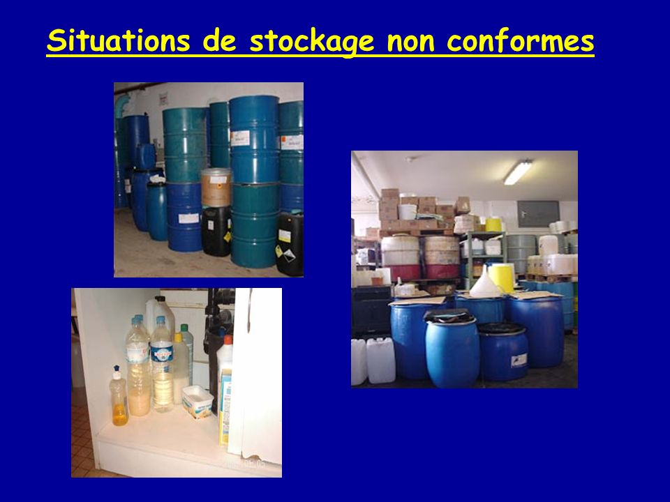 Situations de stockage non conformes