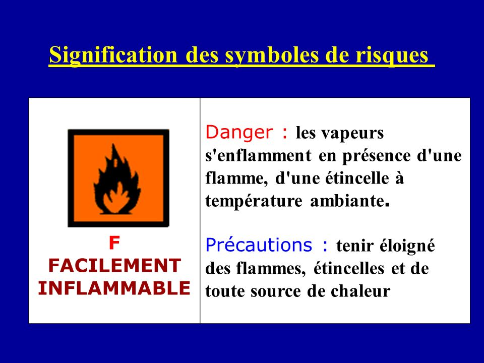 F FACILEMENT INFLAMMABLE