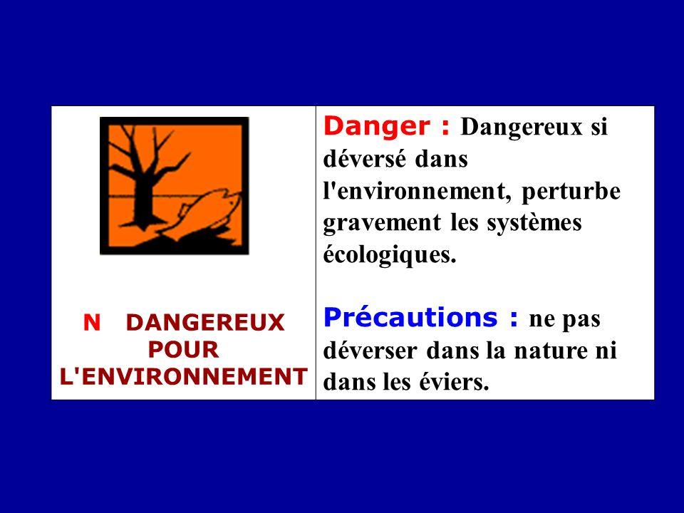 N DANGEREUX POUR L ENVIRONNEMENT