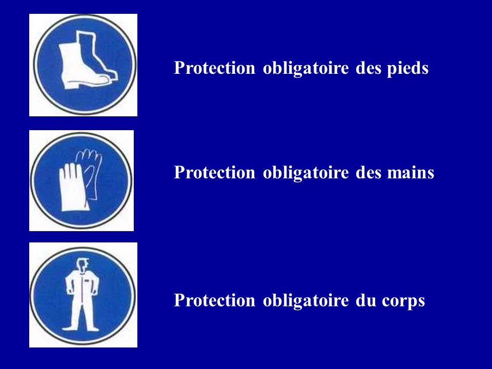 Protection obligatoire des pieds