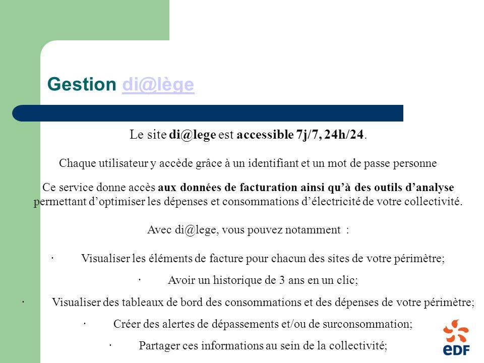 Gestion di@lège Le site di@lege est accessible 7j/7, 24h/24.