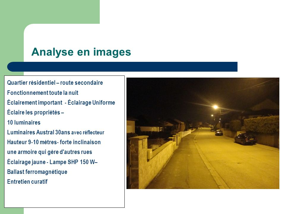 Analyse en images Quartier résidentiel – route secondaire