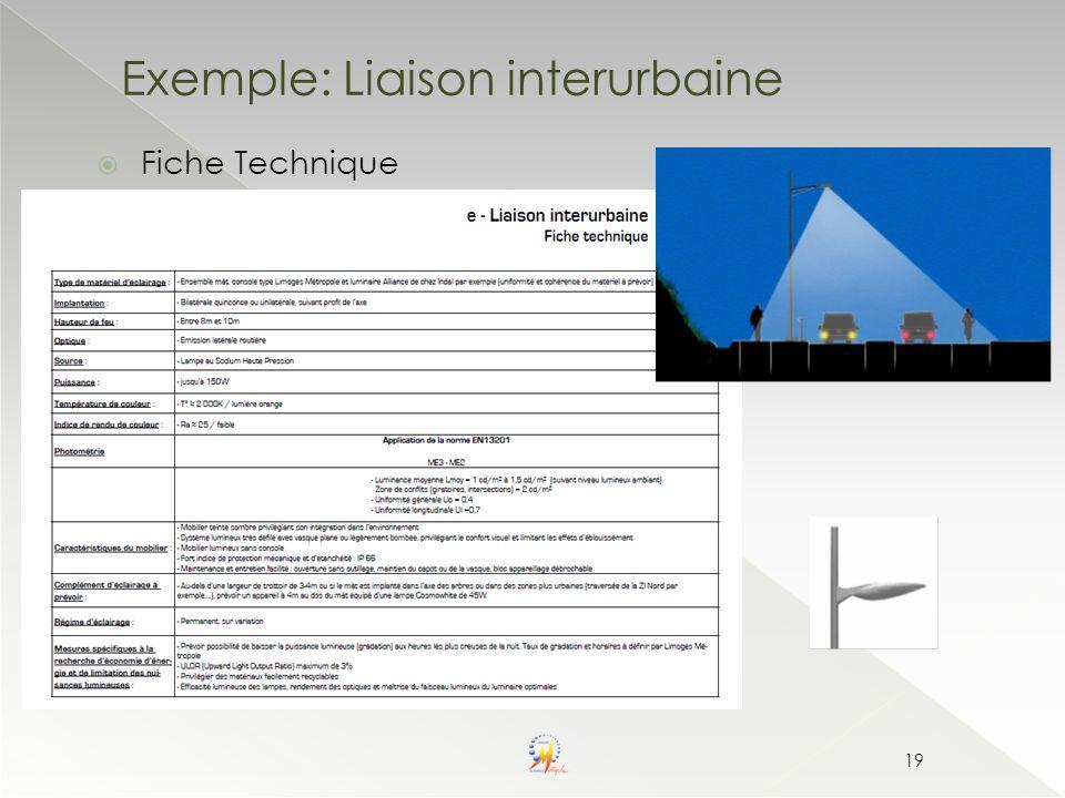 Exemple: Liaison interurbaine