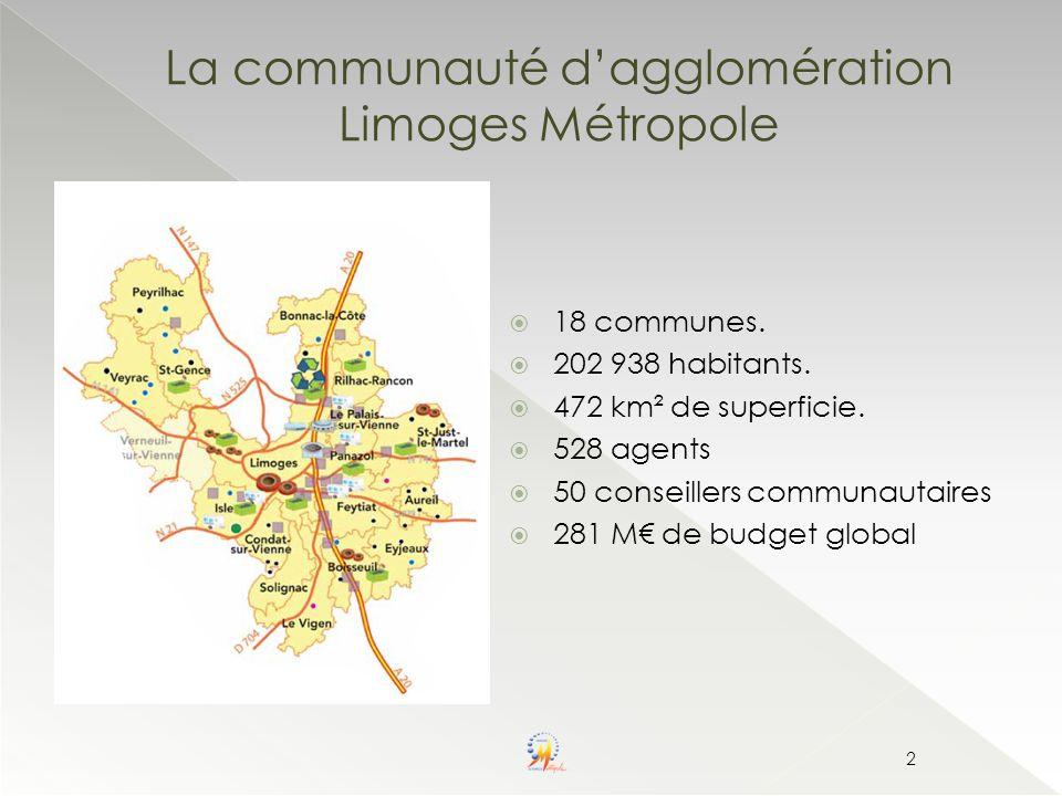 La communauté d'agglomération Limoges Métropole