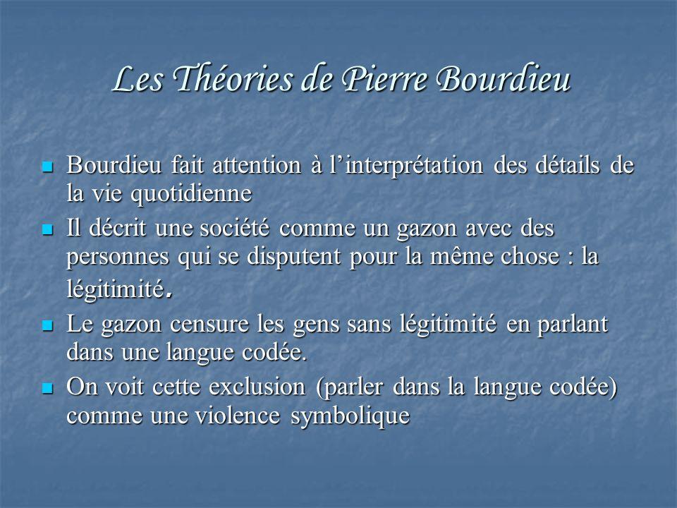 Les Théories de Pierre Bourdieu