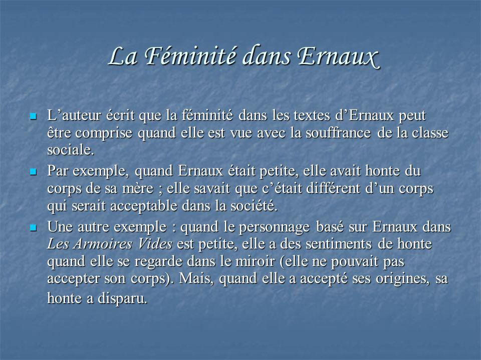 La Féminité dans Ernaux