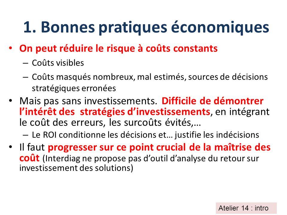 1. Bonnes pratiques économiques
