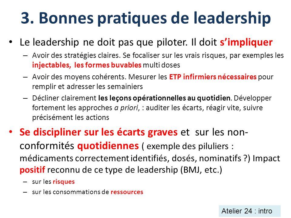 3. Bonnes pratiques de leadership