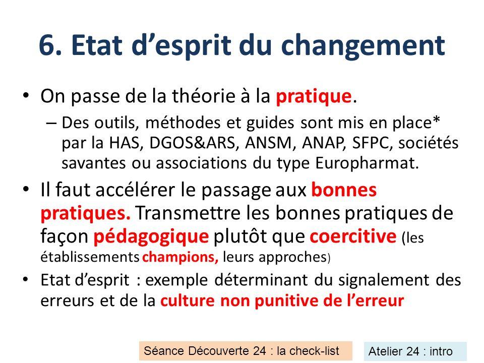 6. Etat d'esprit du changement