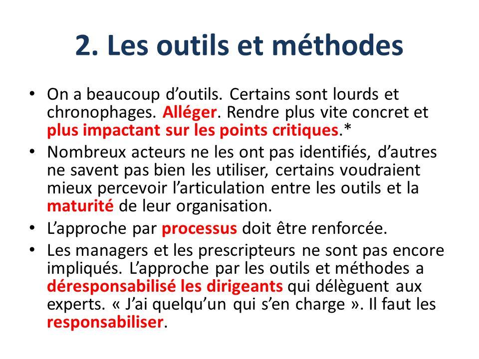 2. Les outils et méthodes