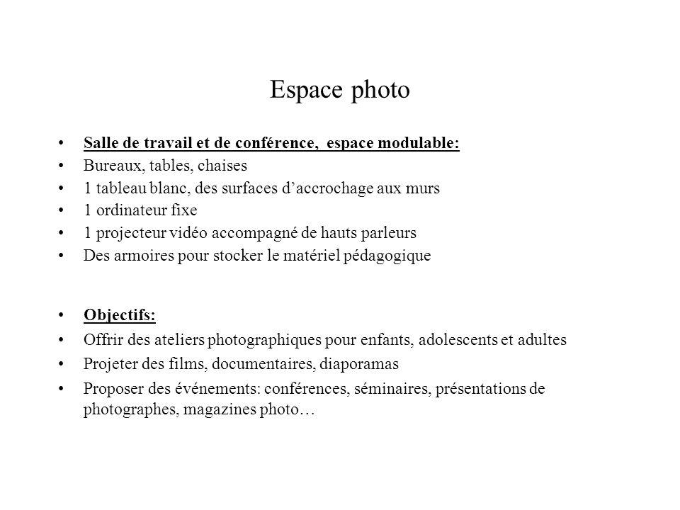 Espace photo Salle de travail et de conférence, espace modulable: