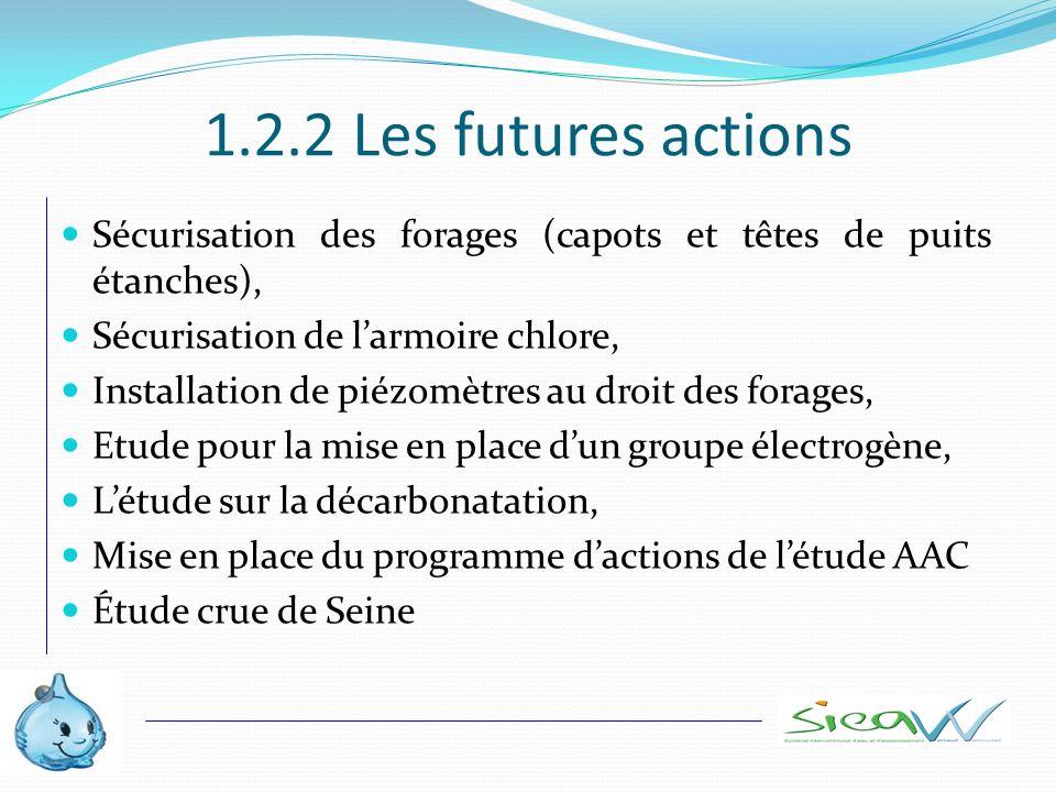 1.2.2 Les futures actions Sécurisation des forages (capots et têtes de puits étanches), Sécurisation de l'armoire chlore,