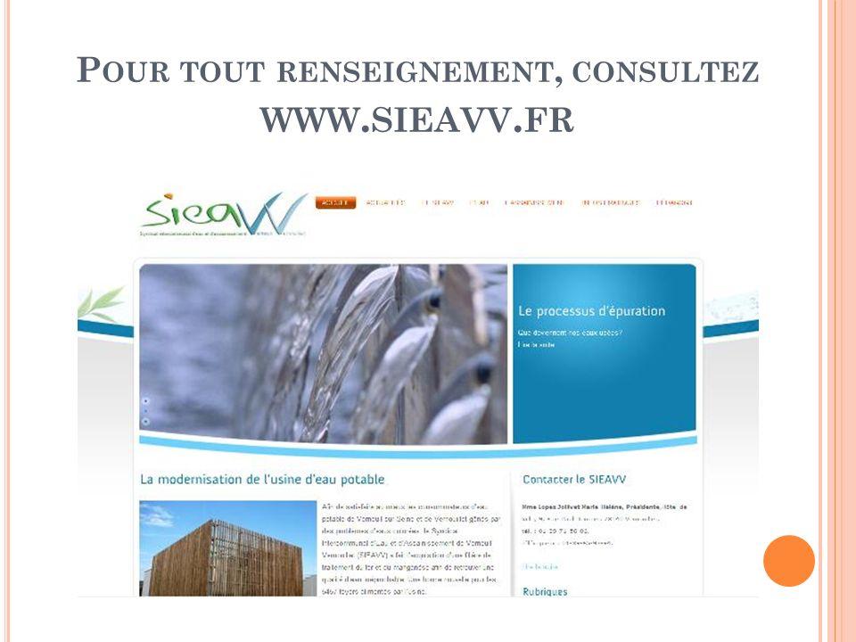 Pour tout renseignement, consultez www.sieavv.fr