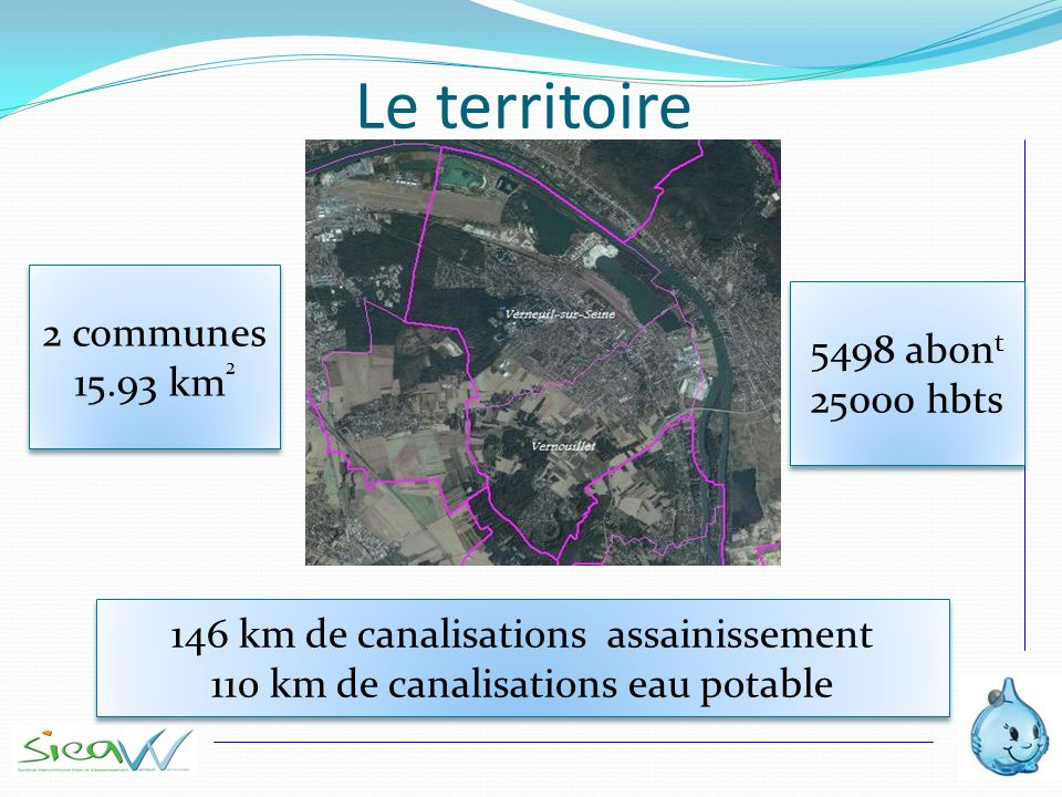 Le territoire 2 communes 5498 abont 15.93 km² 25000 hbts