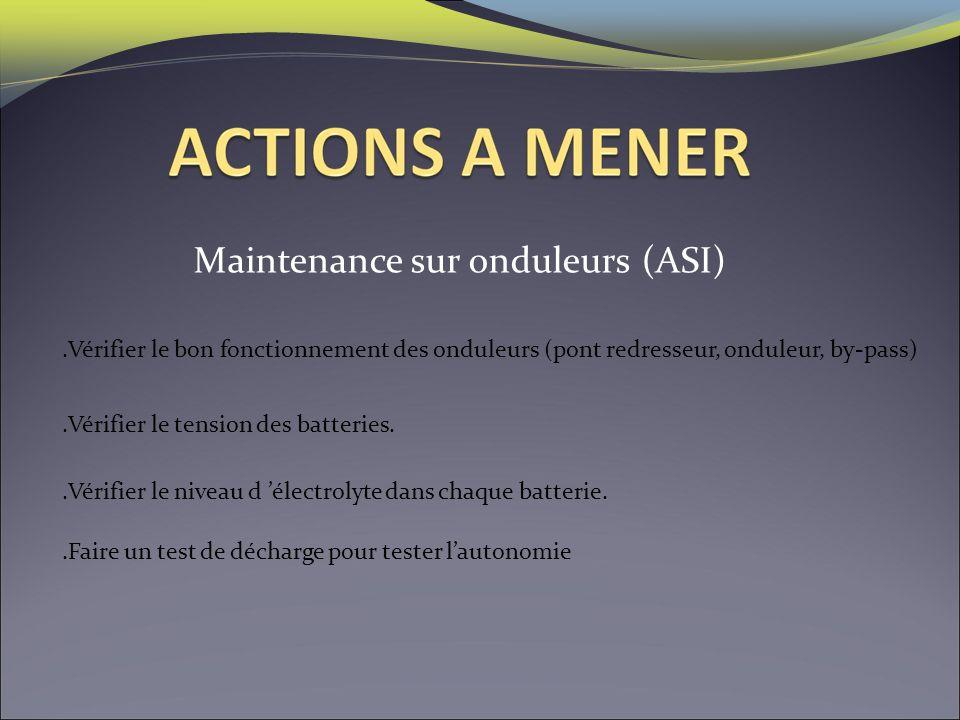 Maintenance sur onduleurs (ASI)