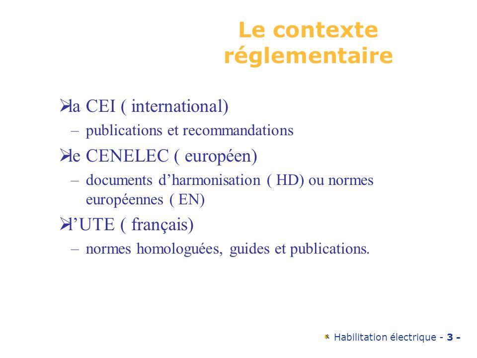 Le contexte réglementaire