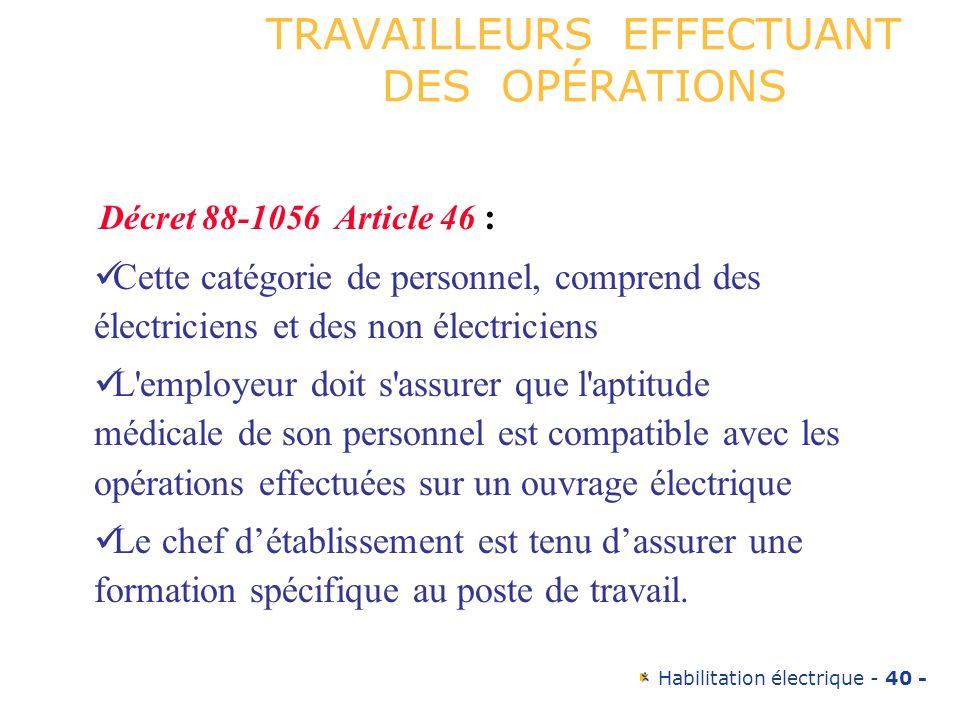 TRAVAILLEURS EFFECTUANT DES OPÉRATIONS