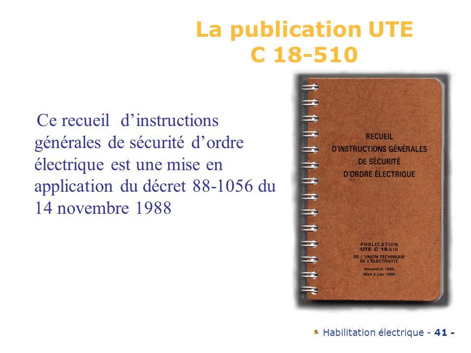 La publication UTE C 18-510