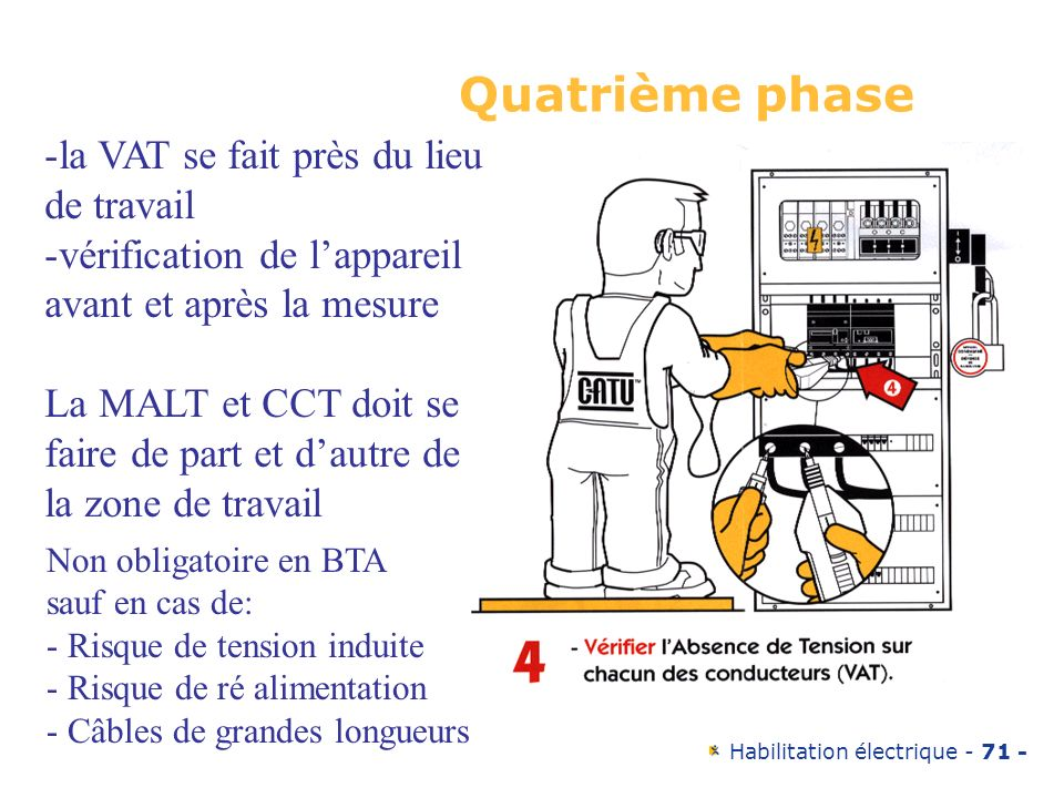 Quatrième phase la VAT se fait près du lieu de travail